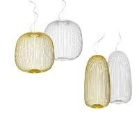 Modern Dimming Spokes 1/2 Chandelier Lighting Bird Cage Iron lustre Foscarini avize modern salon indoor lighting Fixtures