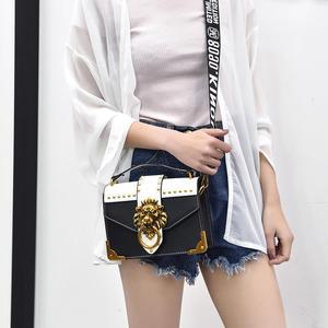 Image 5 - 2019 女性のためのライオンメタル & レザーハンドバッグ高級女性のバッグデザイナーの有名なブランドの女性のショルダーバッグ嚢メイン