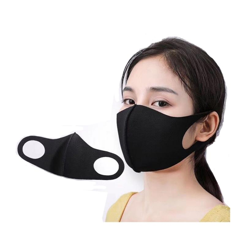 PM2.5 Black Mouth Mask Breathable Protective Mask Activated Carbon Filter Windproof Mouth-muffle Bacteria Proof  Face Masks Care