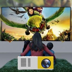 Image 5 - Mini Projektor J9 HD Hause Projektor Theater Unterstützung 1080P AV USB Micro SD Karte USB Tragbare Tasche Beamer EU UNS Stecker PK YG 300