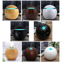 KBAYBO Mini Holz Aromatherapie-luftbefeuchter Aroma Diffusor Ätherisches Öl Diffusor Luftreiniger Farbwechsel LED Touch Schalter
