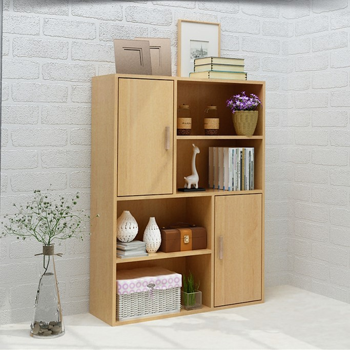 Storage Cabinet Small Cabinet Student Bookcase Bookcase Storage Cabinet Combination Wooden Floating Window Bookshelf