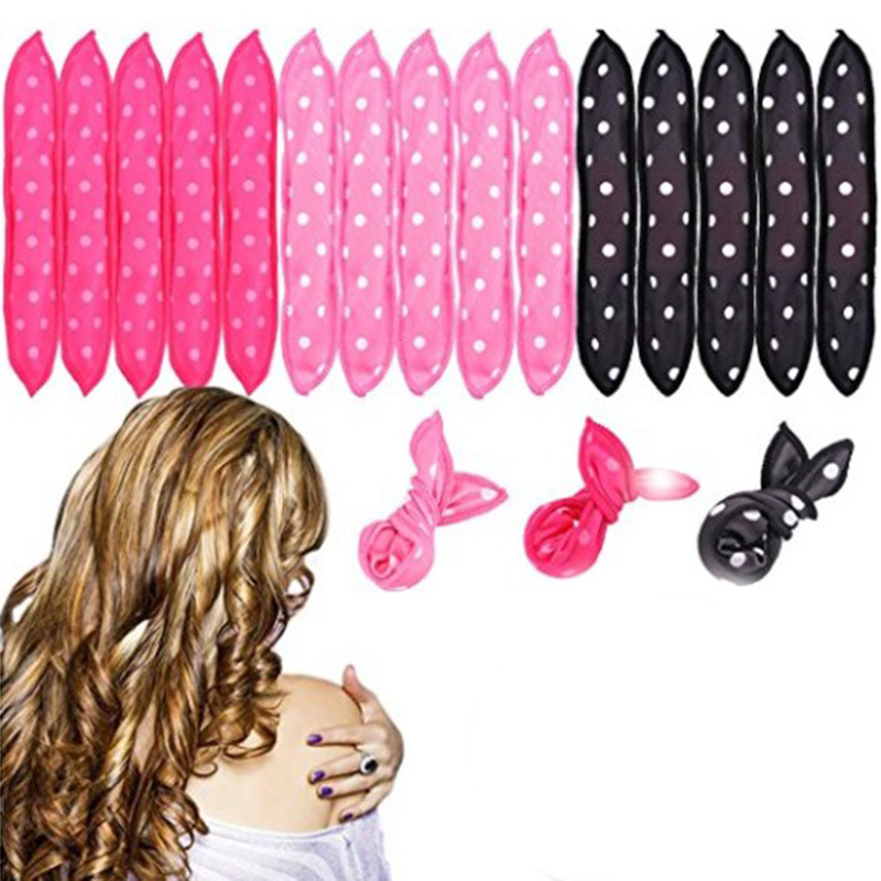 10 Pcs/Lot Hair Curlers Soft Sleep Pillow Hair Rollers Set Best Flexible Foam And Sponge Magic Hair Care DIY Hair Styling Tools
