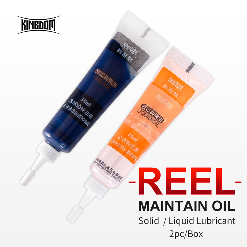 Kingdom Grease + Lubricant Oil For Fishing Reel Bearing Lubricant Baitcasting Spinning Fishing Reel Maintenance Oil Fishing Tool