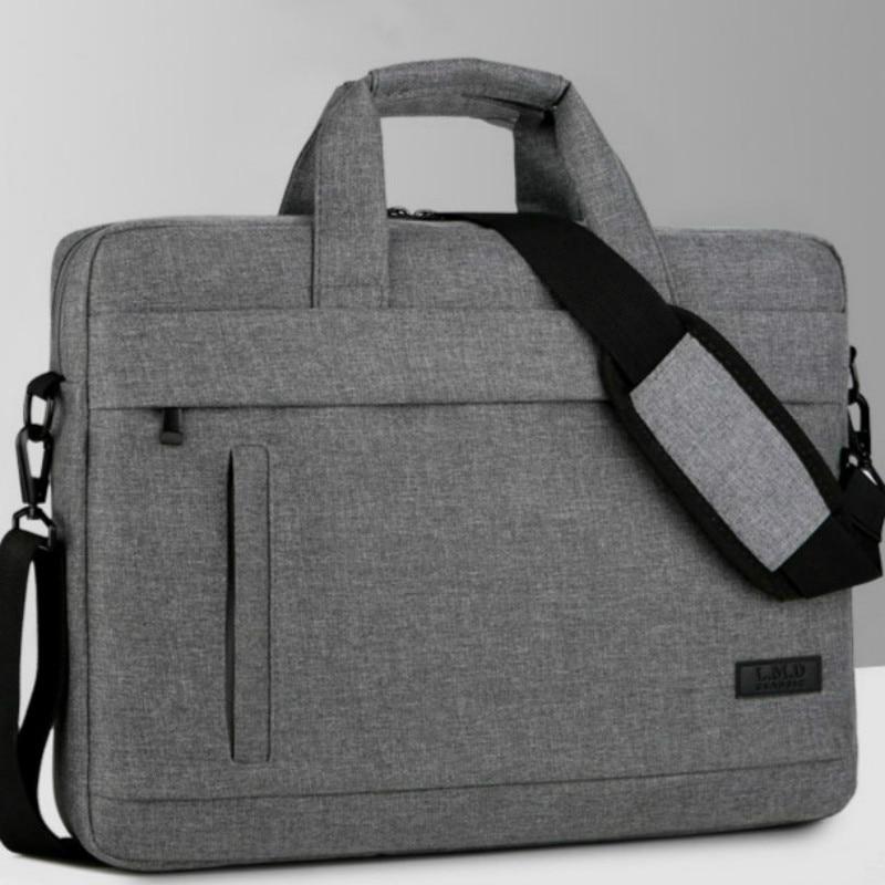 New Men Women Laptop Case 14/15 Inch Computer Bag Portable Briefcase Information Document Bag Shockproof Shoulder Waterproof