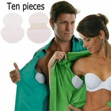 10 pieces underarm coxim roupas suor wicking pads escudo axila suor remendos mulher desodorante absorção almofada