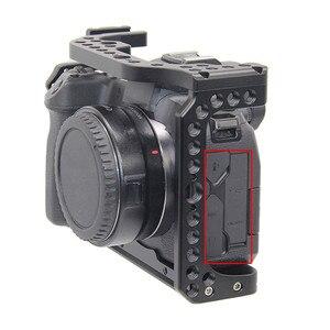 Image 5 - Camera Kooi voor Canon EOS R met Coldshoe 3/8 1/4 Draad Gaten Arca Swiss Quick Release Plate Camera Beschermhoes