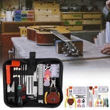 Pense bakım elektrik bas temizleme profesyonel tamir araçları gitar bakım seti enstrüman dize cetvel tam Set