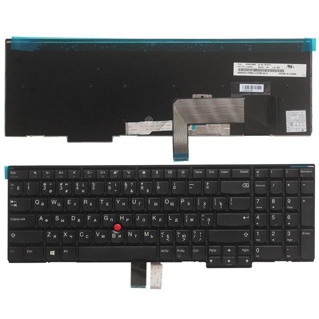 Novo teclado do portátil russo para lenovo ibm thinkpad w540 w541 w550s t540 t540p t550 l540 borda e531 e540 ru teclado sem luz de fundo