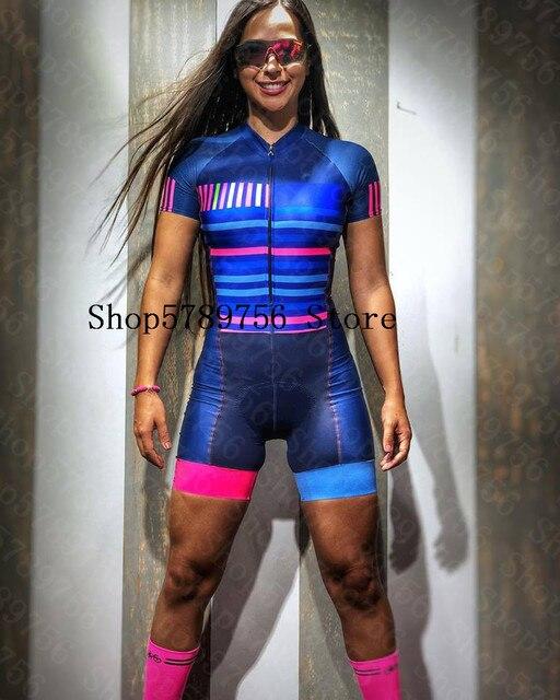Mulher profissão frenesi triathlon terno roupas ciclismo skinsuit corpo conjunto rosa roupa de ciclismo macacão go pro equipe kits 3