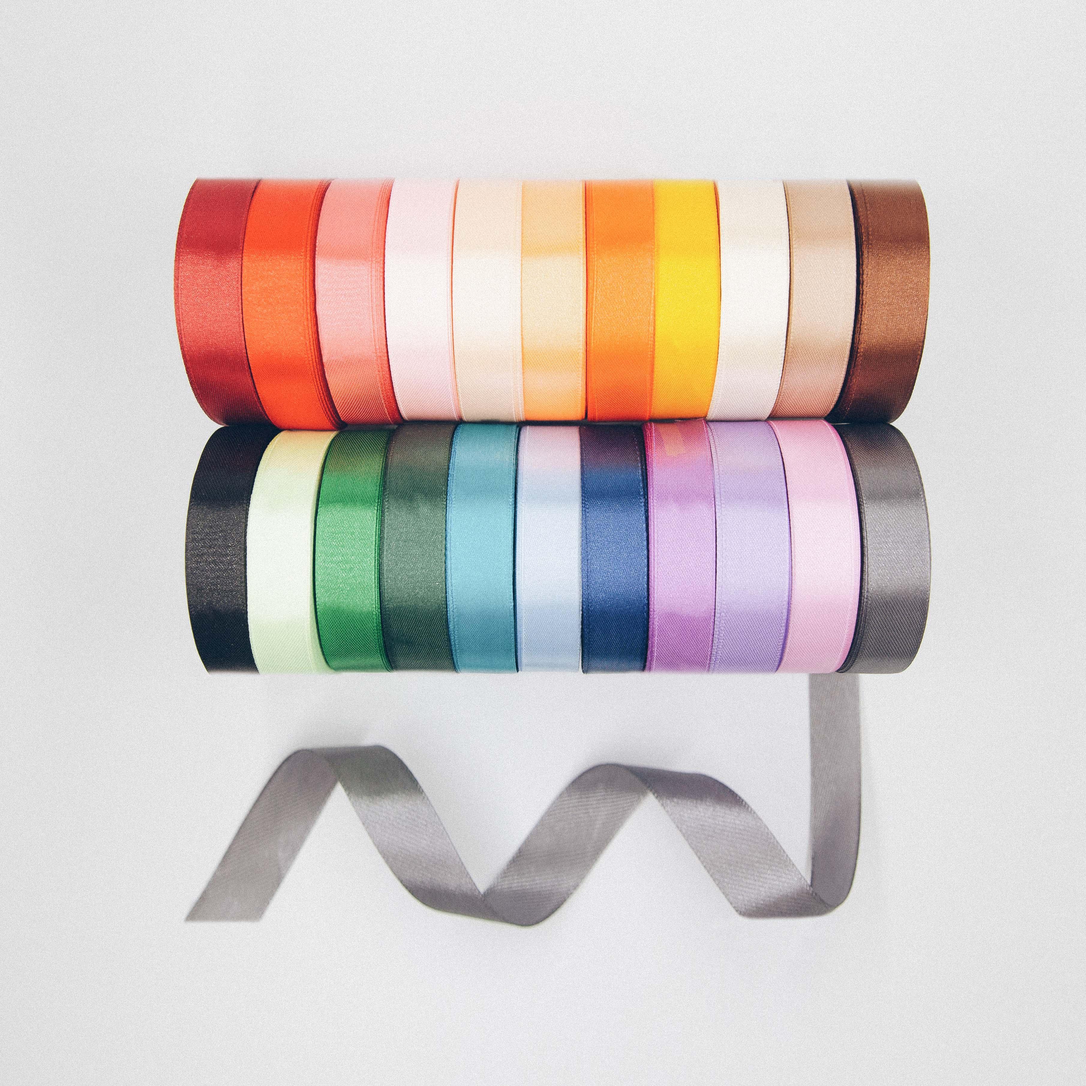 (25 ярдов/рулон) Сатиновые ленты из полушерстяной лентой для поделок diy вечерние подарочная упаковка Цветная декоративная лента Свадьба швейная