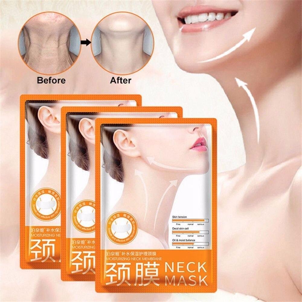 Máscara de cuello antienvejecimiento, antiarrugas, blanqueadora, hidratante, hinchazón, Lifting, blanqueamiento, cuidado de la piel, 1 PZ, TSLM2| |   - AliExpress