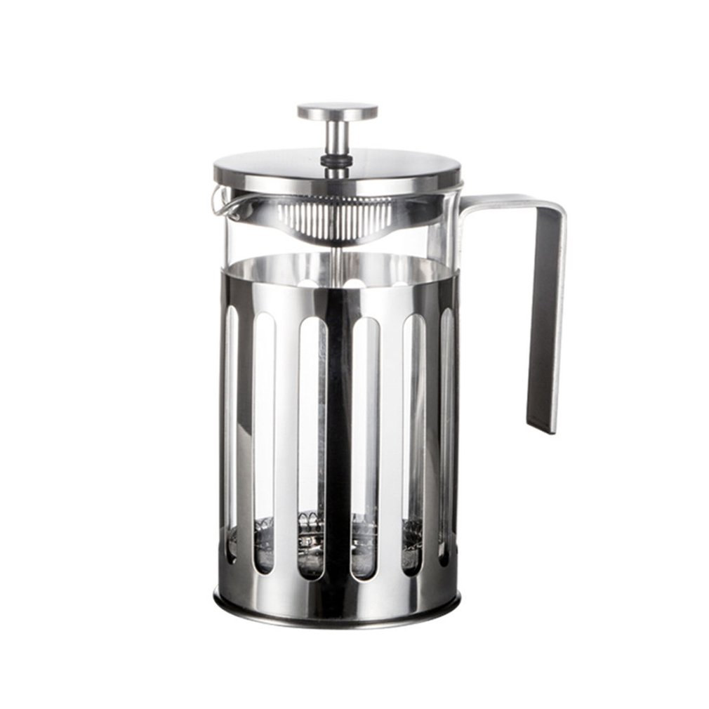 Stainless Steel French Press Coffee Maker Cafetiere Percolator Tool Insulated Coffee Tea Brewer Pot With Filter Baskets
