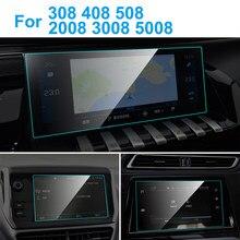 TPU nawigacja samochodowa GPS Screen Protector wnętrze auta TPU folia ochronna do Peugeot 308 408 508 2008 3008 5008 akcesoria samochodowe