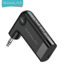 KUULAA-Receptor inalámbrico por Bluetooth 5,0, Adaptador de Audio con clavija AUX de 3,5mm para coche, PC, auriculares, micrófono 3,5, Receptor Bluetooth 5,0