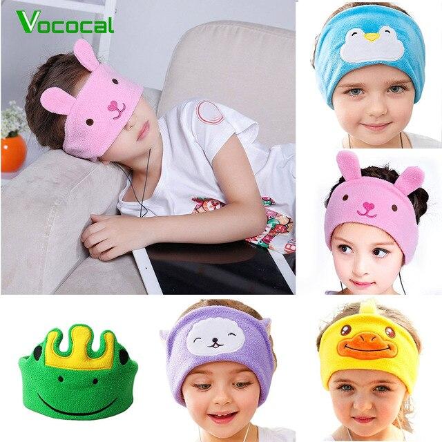 Vococal Auriculares con protección auditiva para niños, diadema para niños, máscara para dormir, escuchar música