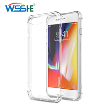 Transparent Case for iPhone 8 7 6 Plus Phone case for iPhone 11 XR XS max 5 5s SE 11Pro Max 6 6s Soft Shockproof TPU Back Cover laser person pattern protective abs back case for iphone 5 5s transparent silver