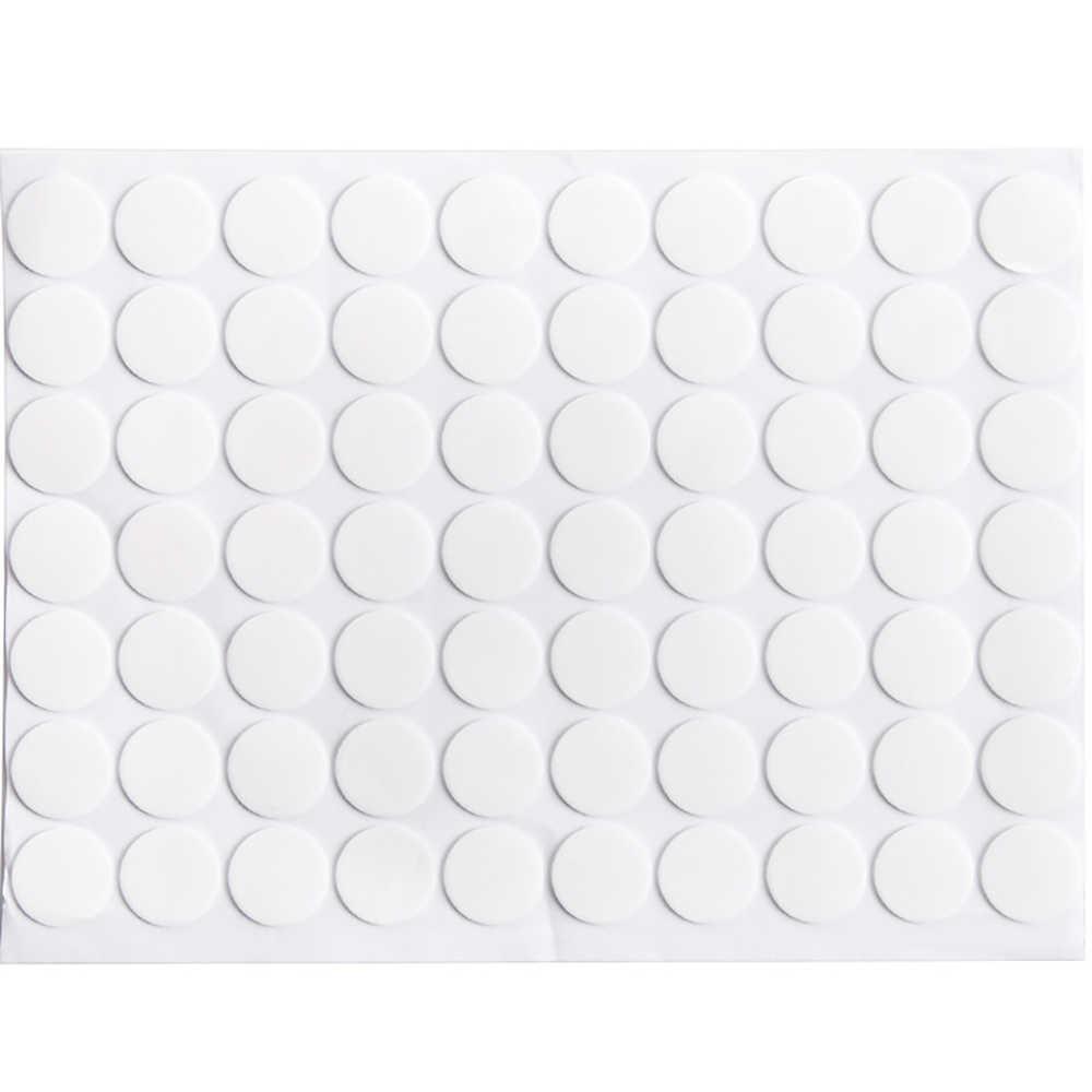 70 pièces réutilisable Double face autocollant étanche Table antidérapant cadre Photo solide adhésif sans trace mur miroir acrylique clair