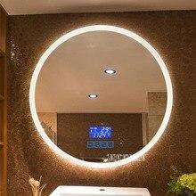 CTL304 новое обновление 2-color Light умное зеркало настенный светодиодный Зеркало для ванной комнаты круглый сенсорный экран туалетное зеркало 110 В/220 В 4,8 Вт/м