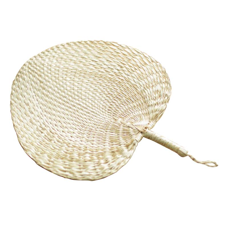 Cool Baby Mosquito Repellent Fan Summer Manual Straw Hand Fans Palm Leaf