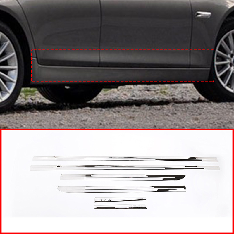 6pcs Stainless Steel Chrome Bottom Window Frame Sill Trim For BMW X3 2011-2016
