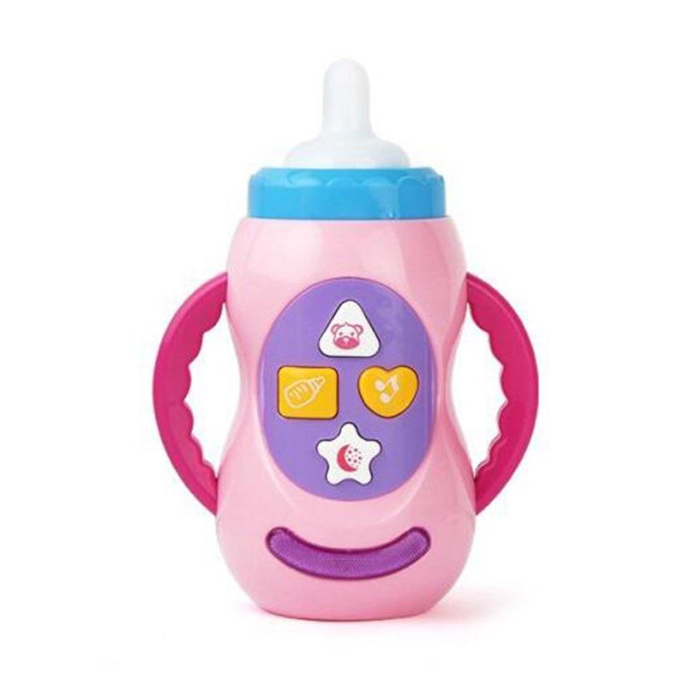 Baby Kids Safe Sound Music Light Milk Bottle Learning Musical Feeding Tool Early Educational Baby Bottle Toys For Baby Kids