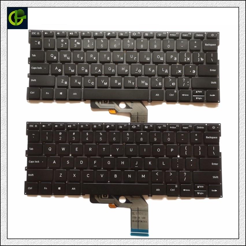 Bilgisayar ve Ofis'ten Yedek Klavyeler'de İngilizce/rusça arkadan aydınlatmalı için yeni Xiao mi mi hava 13.3 inç 9Z.ND7BW.001 MK10000005761 490.09U07.0D01 dizüstü RU abd siyah title=