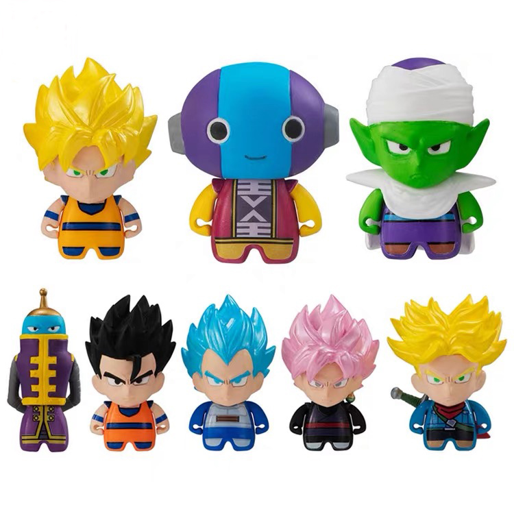Original Bandai Dragon Ball DBZ Black Goku Zen'ō Piccolo Trunks Gohan Vegeta Gashapon PVC mini Figure capsule Toys Figurals