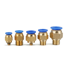PC Air Pneumatic 10 12 6 8 4mm Hose Tube  Male Thread Air Pipe Connector Quick Coupling Brass FittingPC4/6-M5PC8-M6/M8/M10/M12/M