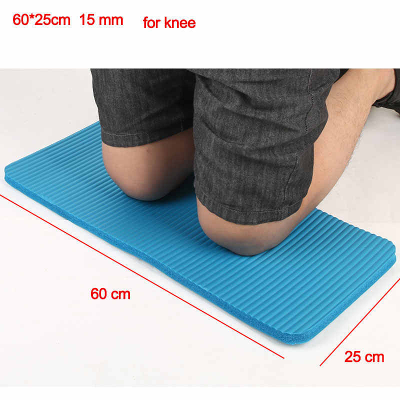15mm 60cx25cm joga mata ochraniacze na kolana dywan Fitness Gym ćwiczenia Pad łokieć Sport materac początkujący kryty rolki ochraniacze na kolana X11A