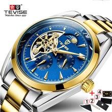 TEVISE אוטומטי שעון 2019 Tourbillon מכאני שעונים גברים שעון עסקי שעוני יד זכר שלד שעון montre homme 2019