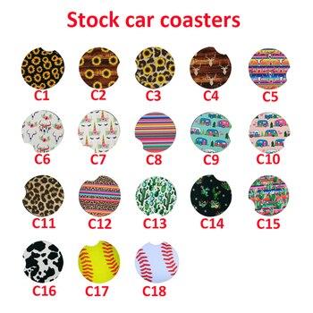 100Pcs Neoprene Car Cup Mat Contrast Mug Coaster Flower Teacup Rainbow colors Pad for Home Decor Accessories