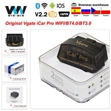D'origine Vgate iCar Pro Bluetooth 4.0 ELM327 WIFI OBD2 Scanner ORME 327 Scan Pour Android/IOS OBD 2 OBD2 Diagnostique de Voiture Outils Automatiques