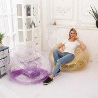 2019 Nieuwe Ontwerp PVC Kleurrijke Opblaasbare Living Sofa Lounge Air Stoel met Glitter Binnen Indoor Outdoor Enkele Zetel Persoon Banken-in Tuinbank van Meubilair op