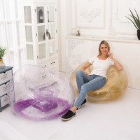 2019 nowy projekt pcv kolorowe nadmuchiwane salon Sofa fotel powietrza z brokatem wewnątrz kryty odkryty pojedyncze siedzenie osoba sofy w Sofy ogrodowe od Meble na