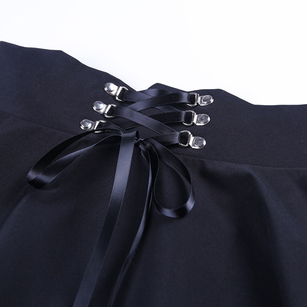 Dark Pleated School Girl Skirt  3