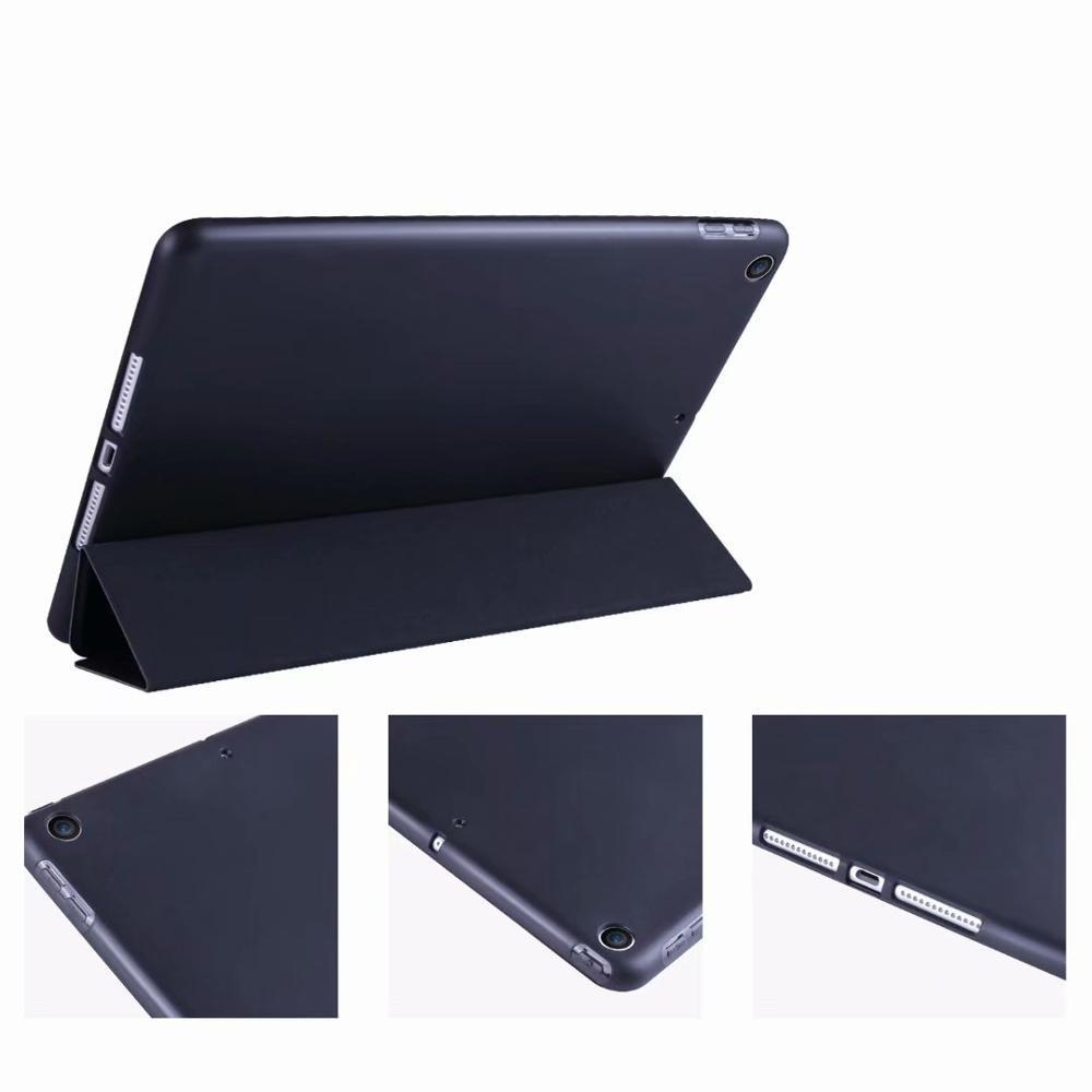 Slim light Tablet Case For Ipad 10 2 Soft TPU Tri fold Smart Cover For iPad
