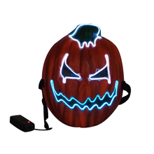 LED Pumpkin Masks Halloween Mask Maske Light Up Cold Head Party Cosplay Decoration