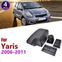 Car Center Console Box Armrest Box Rotatable Storage Box for Toyota Yaris Vitz Hatchback 2006 2011
