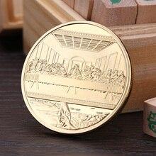 Памятная монета с Иисусом, памятная монета с золотым покрытием, сувенирная монета, коллекционные подарки