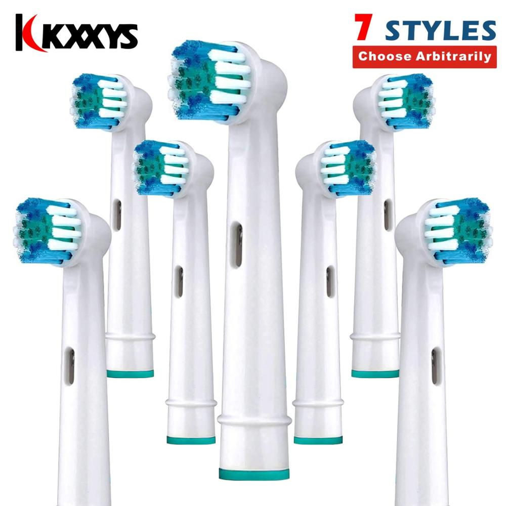 7/14pcs Replacement Toothbrush Heads 7 Styles Soft Bristle for Oral B 3D Excel Electric Tooth Brushes Heads/Nozzle image