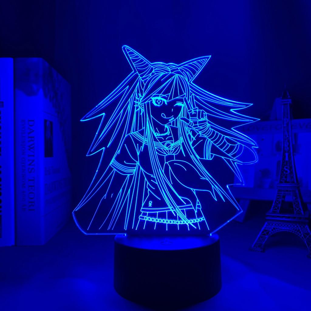 Hb201aef6228b49279e8c273a87993f74h Luminária Danganronpa led night light ibuki mioda lâmpada para decoração do quarto crianças presente danganronpa acrílico 3d lâmpada ibuki mioda