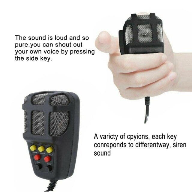 12V 100W 120-150dB 7 dźwięk samochód elektroniczny ostrzeżenie syrena Alarm motocyklowy strażacy pogotowia głośnik z mikrofonem do samochodu