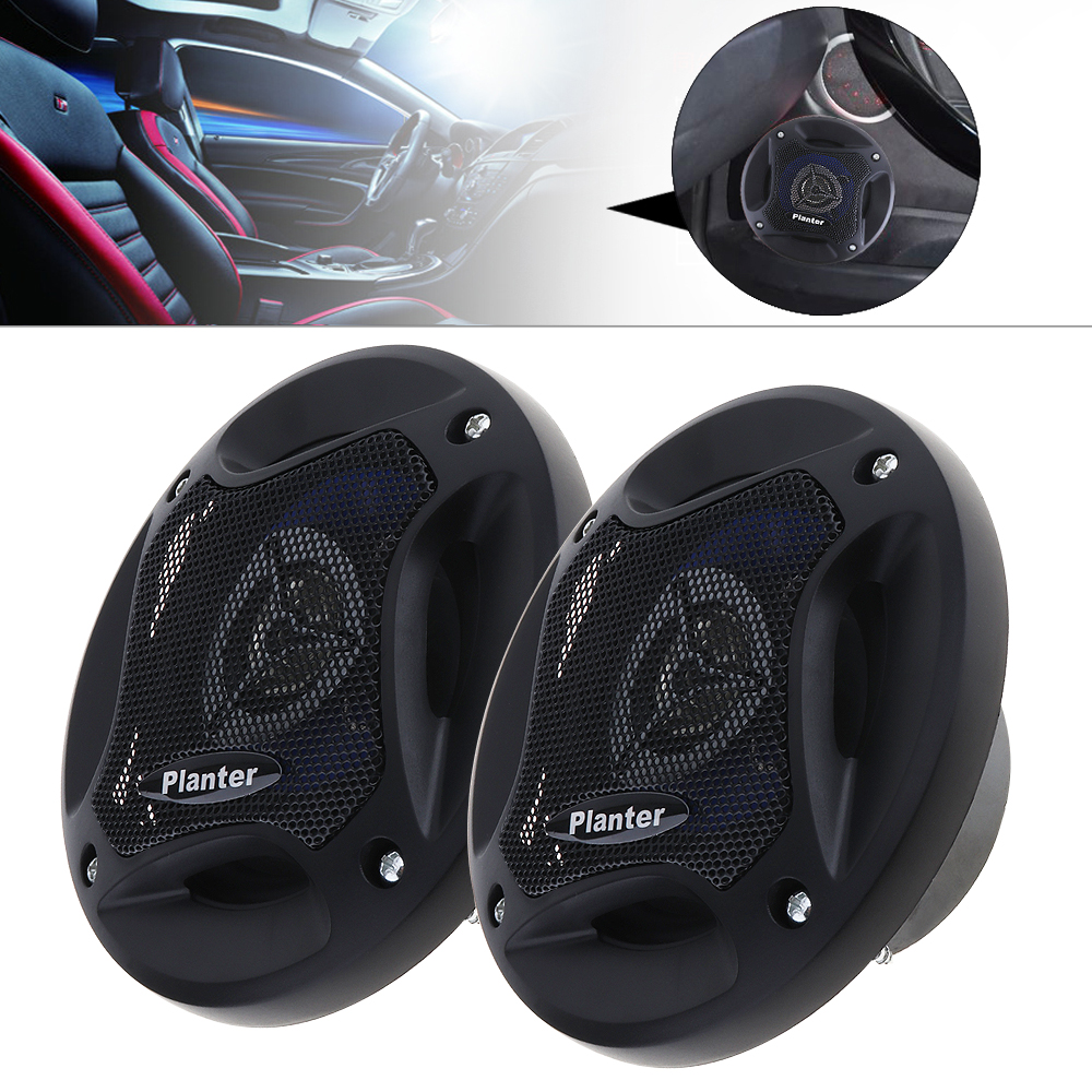 2pcs 4 Inch 12V 280W Black Universal Stereo Car Horn with Coaxial Type and Full Frequency for Most Cars