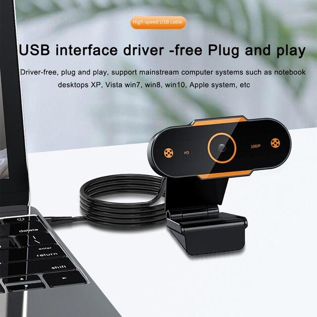 Hd 1080p webcam computador pc câmera web com microfone para desktop para transmissão ao vivo vídeo usb webcam cam gravação de vídeo trabalho 2