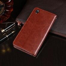 Para vivo y1s caso flip carteira de couro do negócio capa telefone caso para vivo y1s capa fundas acessórios