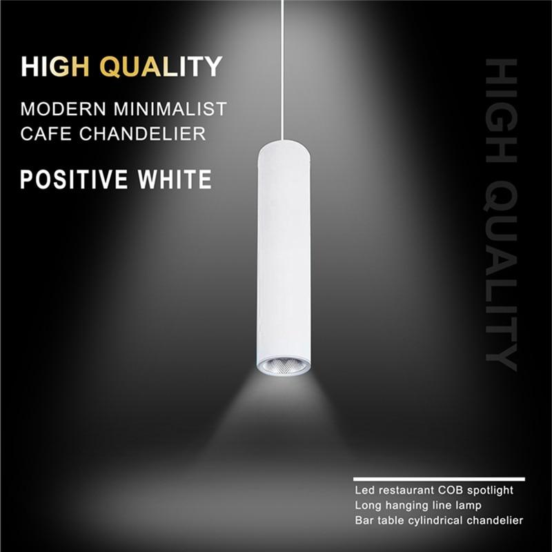 Promotion! High Quality Modern Minimalist Cafe Chandeliers Led Restaurant COB Spotlights Long Tube Hanging Lamp Bar Table Cylind