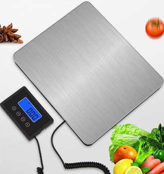 Stainless Steel Industrial Scales 180kg Household Electronic Platform Scales Express Weight Cargo Scales Portable Digital Scales seebz electronic scales interface board for bizerba bcii800