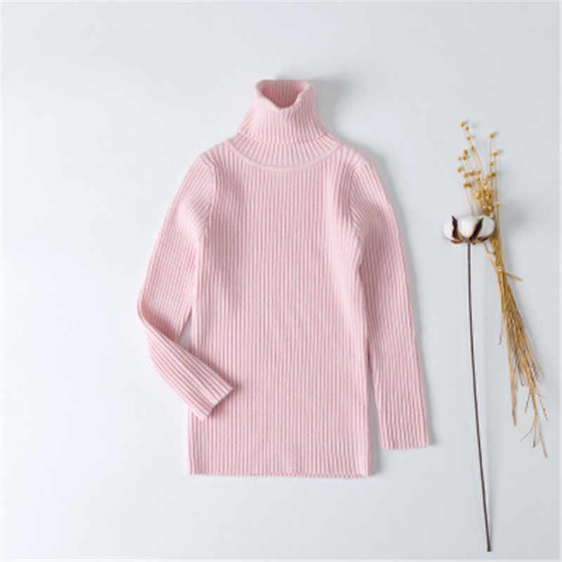 1-6y 가을 겨울 어린이 스웨터 터틀넥 니트 스웨터 아기 소년 소녀 의류 니트 유아 캐주얼 유아 긴 소매