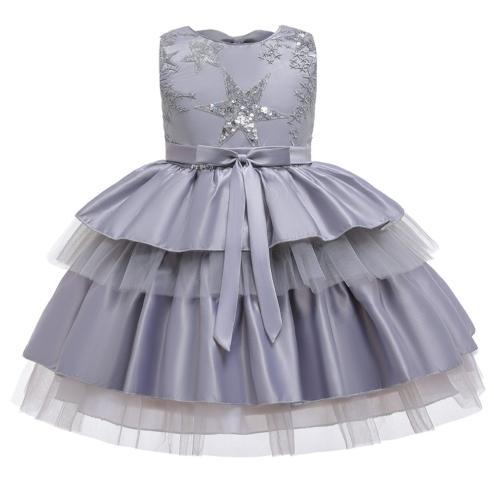 Vintage Flower Girl Dresses For Weddings Custom Made Princess Tutu Sequined Appliqued Lace Bow Kids First Communion